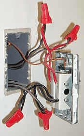 Wiring of standard baseboard thermostat revealed